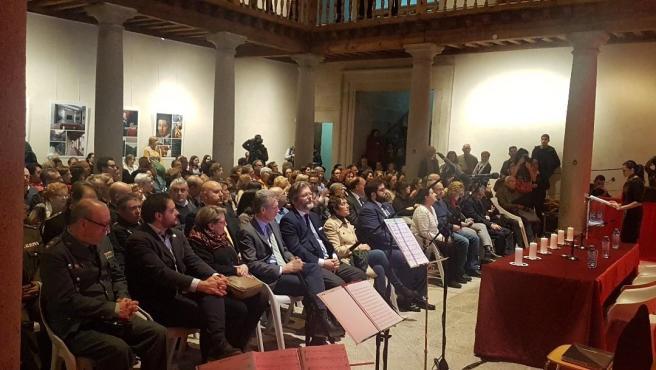 La superviviente Ita Bartuv participa en el homenaje de Ávila a las víctimas del holocausto