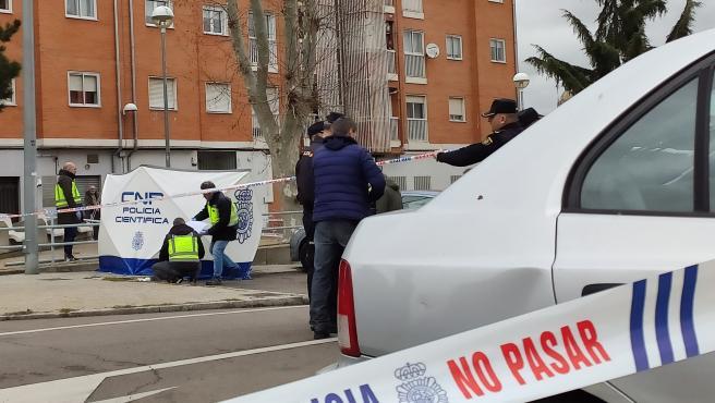 Lugar donde se produjo el tiroteo el pasado miércoles en el barrio San José de Salamanca con el fallecimiento de un joven de 27 años.