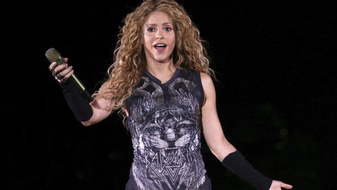 La cantante Shakira en un concierto en Nueva York.