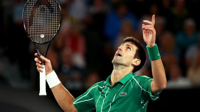 Novak Djokovic, durante la final del Open de Australia.
