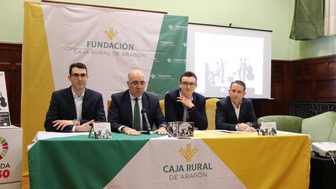 El cuarteto de jazz Maddison Pack presenta su álbum '626 Club' en el edificio Caja Rural de Aragón.