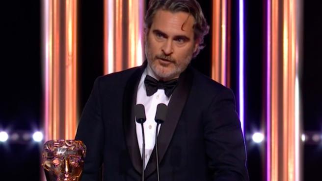 El incendiario discurso contra el racismo de Joaquin Phoenix en los BAFTA 2020