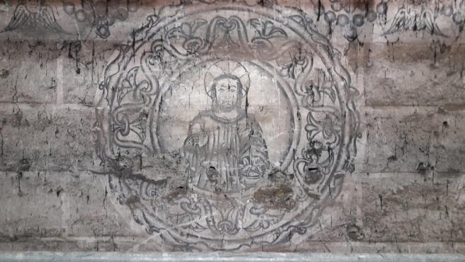 Pinturas murales localizadas en el monasterio de San Vicente do Pino