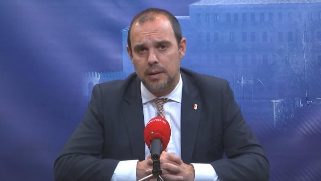 El presidente de las Cortes, Pablo Bellido