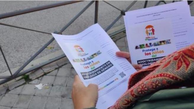 Imagen de archivo de una campaña de Hazte Oir.
