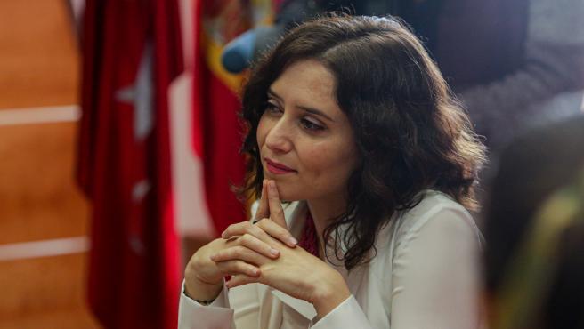 La presidenta de la Comunidad de Madrid, Isabel Díaz Ayuso durante la reunión del Consejo de Gobierno de la Comunidad de Madrid, en Pozuelo de Alarcón, en Madrid (España), a 4 de febrero de 2020.