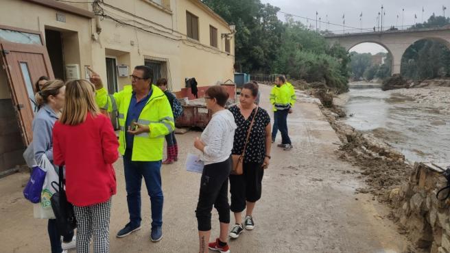 Zona de Cantereria a Ontinyent afectada per les pluges