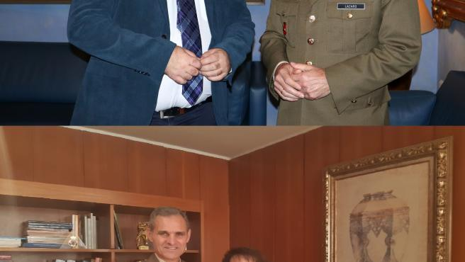 Aroldo Lázaro Sáenz con Antonio Ruiz y Rafaela Valenzuela