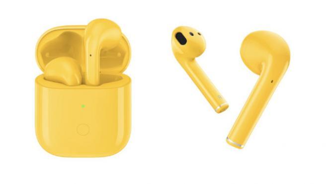 Los Realme Buds Air en color amarillo