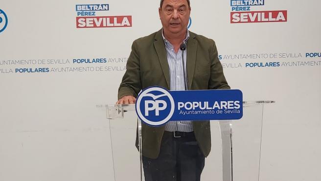 El concejal del Grupo Popular en el Ayuntamiento de Sevilla, Ignacio Flores