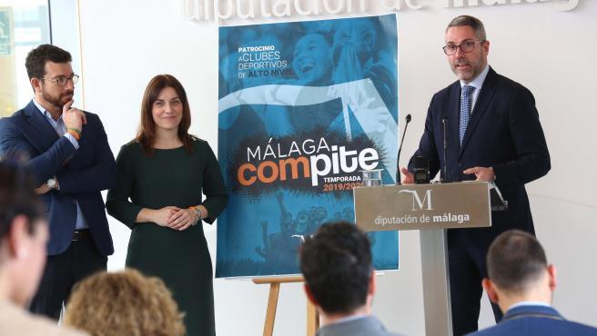 El vicepresidente primero de la Diputación de Málaga, Juan Carlos Maldonado, presenta Málaga Compite para apoyar a clubes deportivos de alto nivel