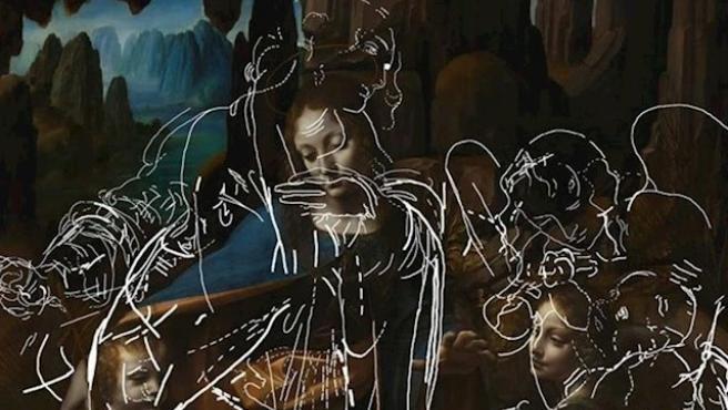 Dibujos ocultos en la Virgen de las Rocas de Da Vinci