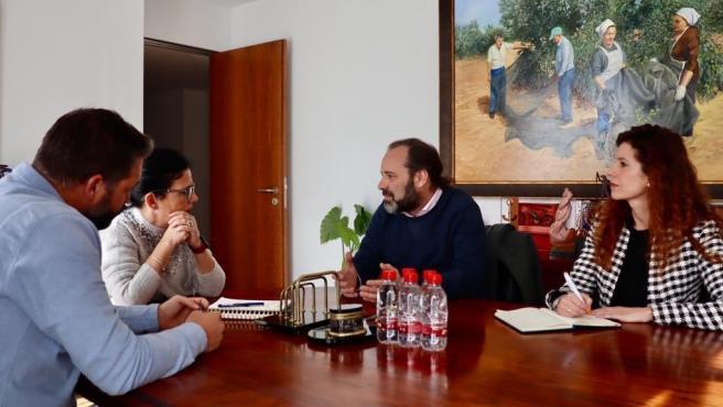 Juan Cassá se reúne con el equipo de gobierno de Archidona.