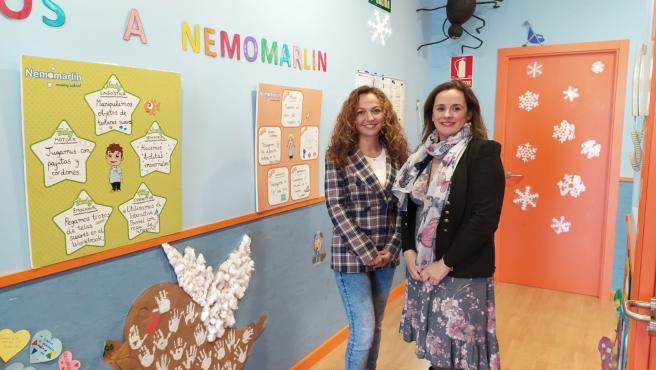 La delegada de Educación, Deporte, Igualdad, Políticas Sociales y Conciliación en Sevilla, Marta Escrivá, durante su visita a una escuela infantil