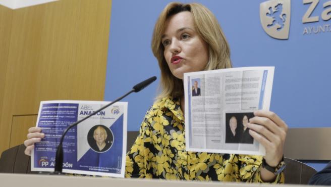 La portavoz del PSOE en el Ayuntamiento de Zaragoza, Pilar Alegría.