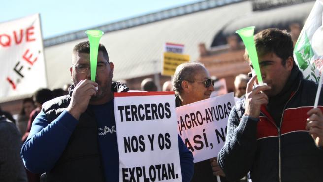 Protestas de agricultores en Madrid