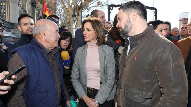 Reyes Romero en la manifestación de Madrid