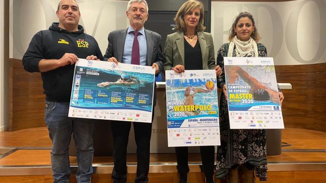 Víctor González, Fernando Carpena, Concepción Méndez y Beatriz Álvarez.