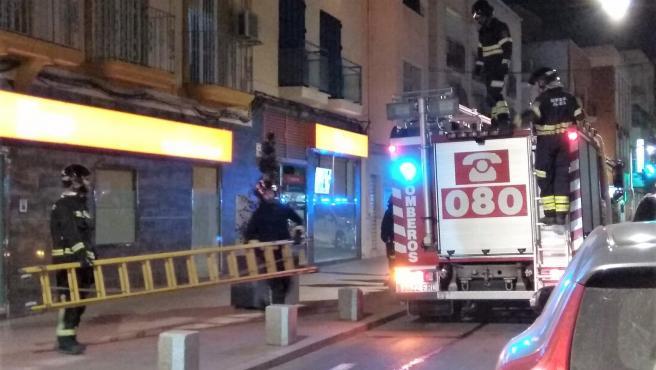 Bomberos de Almería en una actuación en la capital