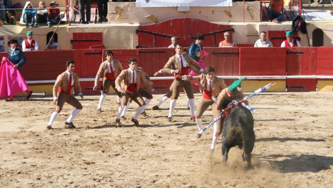 Imagen de archivo de una corrida de toros en Portugal.