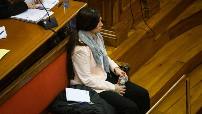 La acusada Rosa Peral durante el juicio por el 'Crimen de la Urbana'.