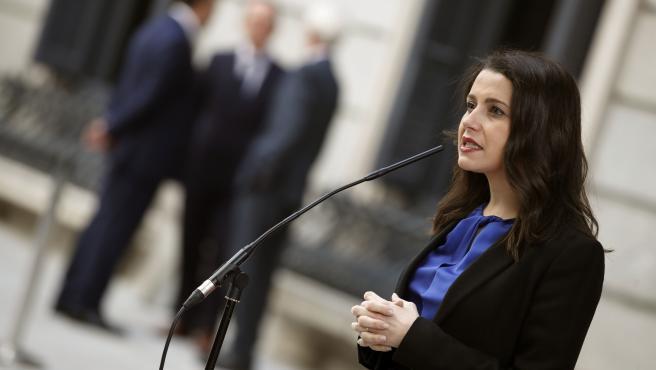 Inés Arrimadas, durante la apertura solemne de las Cortes.
