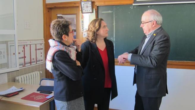 La alcaldesa Ada Colau y el conseller Josep Bargalló