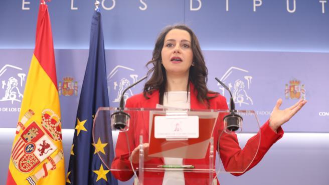 La portavoz de Ciudadanos en el Congreso, Inés Arrimadas.