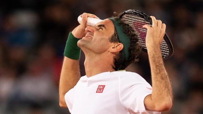 Roger Federer, en el partido benéfico ante Nadal.