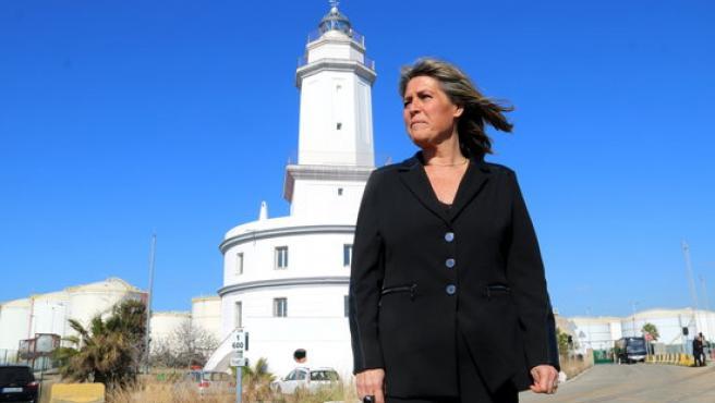 Imagen de Núria Marín en el faro del Llobregat el 6 de febrer de 2020.