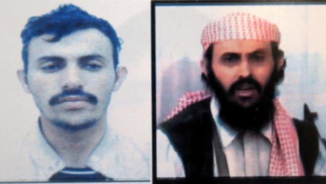 Dos imágenes de Qasem al Rimi, líder de Al Qaeda en la Península Arábiga, hechas públicas en 2009.