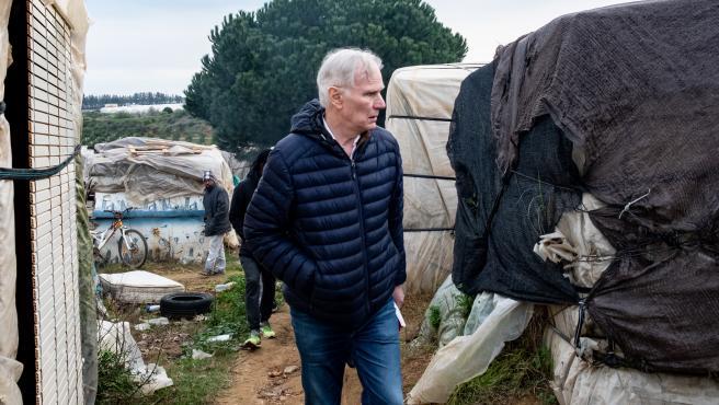 El relator de la ONU sobre la extrema pobreza, Philip Alston, durante su visita a España.