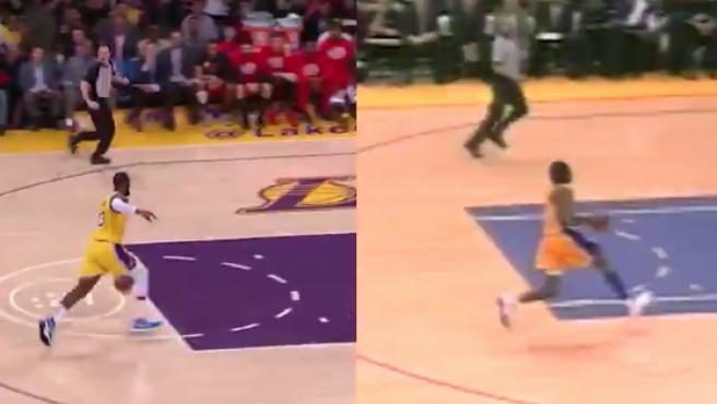 LeBron y Kobe en su mate 'gemelo'