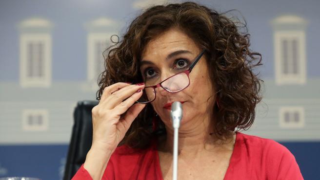 La ministra de Hacienda, María Jesús Montero, este viernes en Madrid.