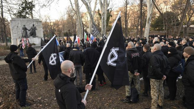 Unos 500 neonazis han conmemorado la contraofensiva de las SS nazis y sus aliados húngaros contra el Ejército Rojo en Budapest