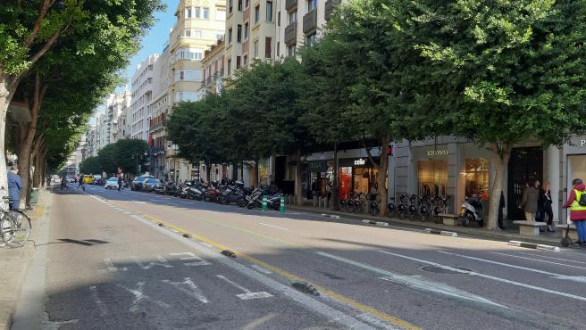 Calle Colón de València abans de la reordenació