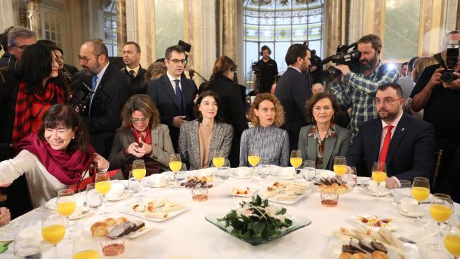 Desayuno informativo de Fórum Europa con miembros del PSOE, en Madrid (España), a 10 de febrero de 2020.