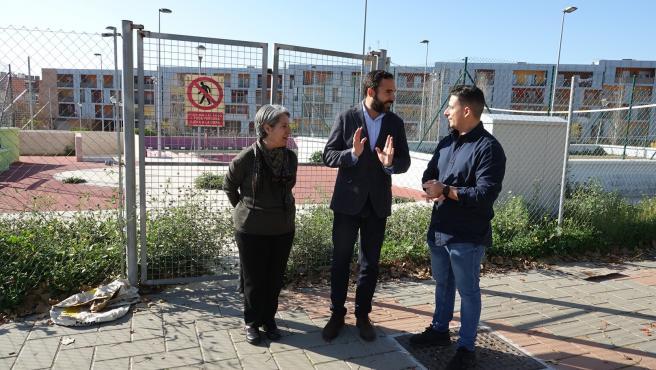 El portavoz del PSOE en el Ayuntamiento de Málaga, Daniel Pérez, en Soliva