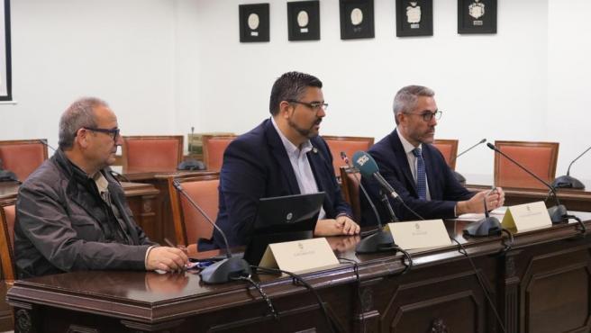 El vicepresidente primero y diputado de Empleo y Formación de la Diputación de Málaga, Juan Carlos Maldonado, en rueda de prensa