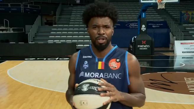 Frantz Massenat, jugador del MoraBanc Andorra.