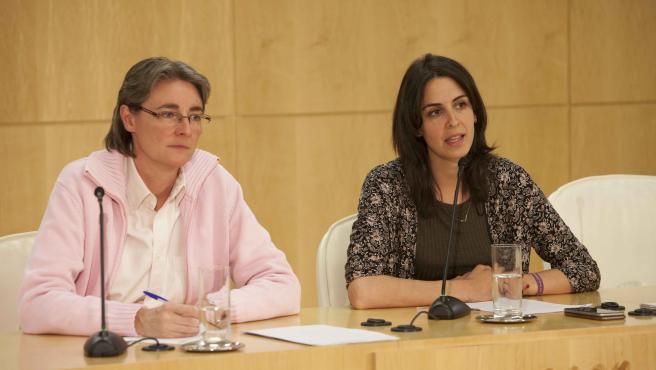 Imagen de recurso de las ediles de Más Madrid Marta Higueras y Rita Maestre.