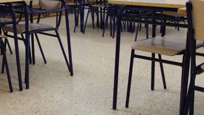Imatge d'arxiu d'un aula escolar