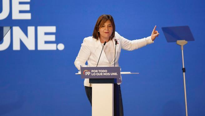 Isabel Bonig (presidenta del PP a la Comunitat Valenciana) en la interparlamentaria del PP en l'Universitat d'Alacant. Alacant, a 26 d'octubre de 2019
