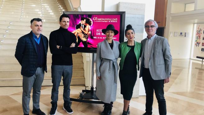Juan Antonio Lorca, Octavi Pujade, Chanel Terrero y Celia Villarino presentan el musical 'El Guardaespaldas' (foto de archivo)