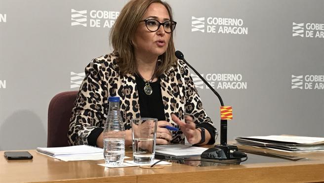 Mayte Pérez es la consejera de Presidencia de Aragón.