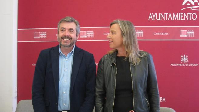 Miguel Ángel Torrico e Isabel Albás.