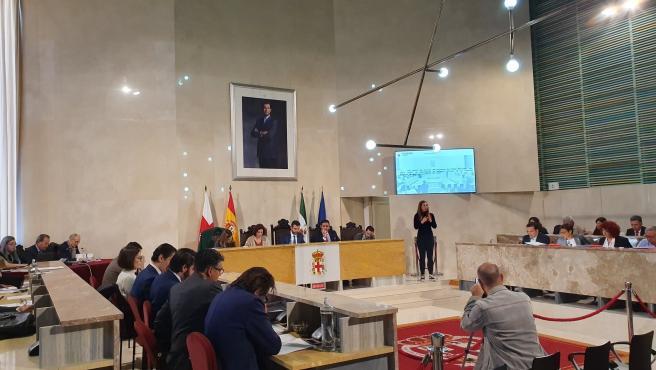 Pleno en el Ayuntamiento de Almería