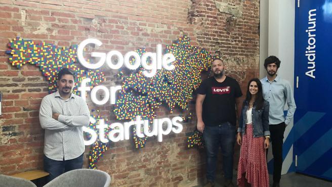 El equipo de la startup ONiAd que viajará esta semana a la meca tecnológica.
