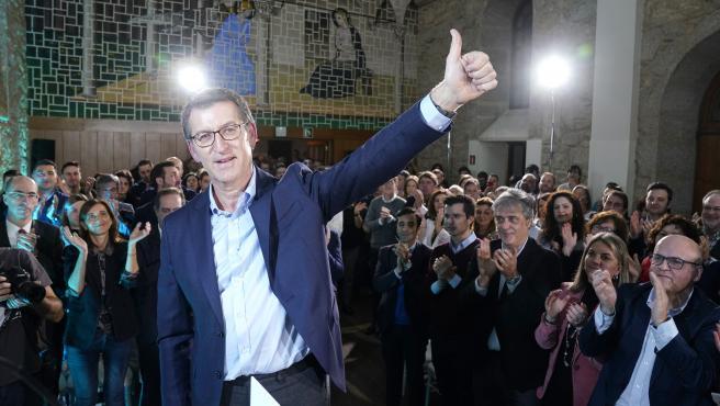 Alberto Núñez Feijóo, candidato PP a las elecciones autonómicas 5 abril 2020 convocadas ayer, tras reunión de la junta directiva PPdG