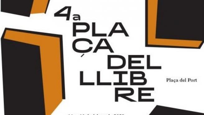 Cartell Plaça del Llibre d'Alacant.